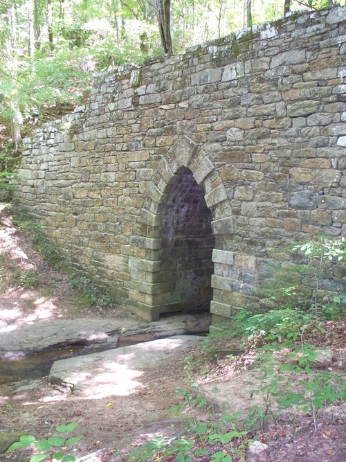Historic Poinsett Bridge in Greenville County South Carolina, investigated 12/13/08 & found to be a site of much paranormal activity